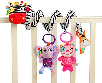 آویز تخت، کالسکه و کریر طرح گورخر جولی بیبی jollybaby